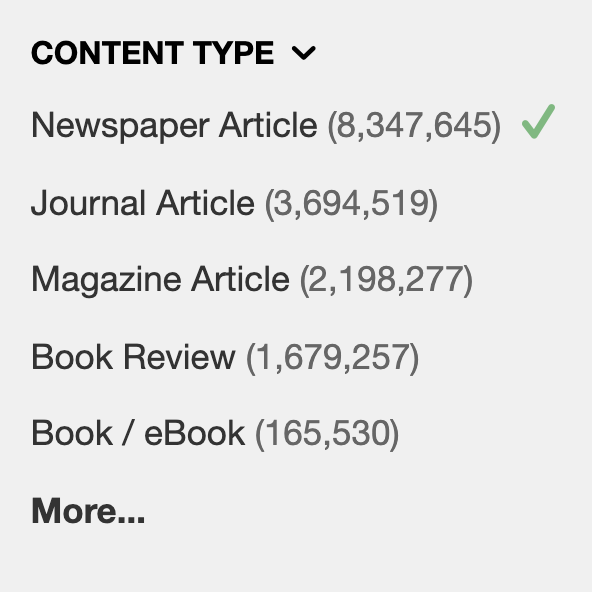 Content Type in the Catalog